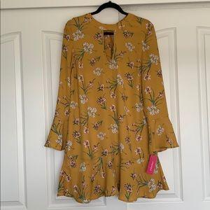 Xhilaration Floral Yellow/Orange Dress